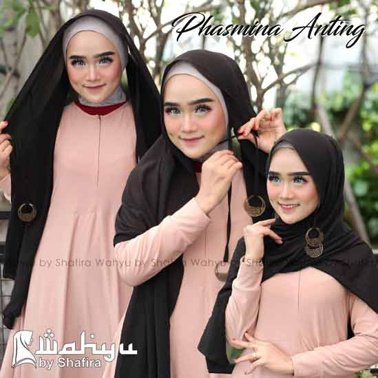 Model Hijab Pashmina Anting